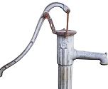 Brunnenbohrung mit Spülgrube
